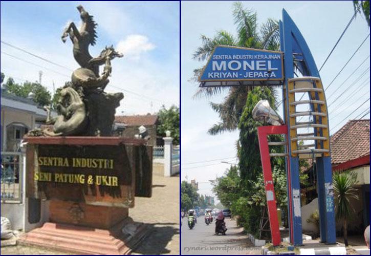 Kerajinan Patung Kayu dan Kerajinan Monel di Jepara.